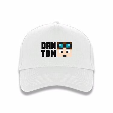 Picture of Dantdm Dan The Diamond Minecart Player Skin Face And Black Text Baseball Cap