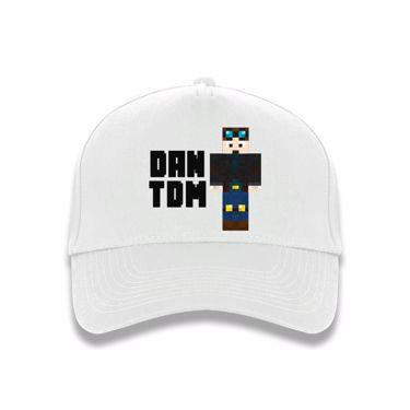 Picture of Dantdm Dan The Diamond Minecart Player Skin Standing Pose And Black Text Baseball Cap