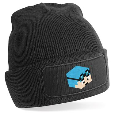 Picture of Dantdm Dan The Diamond Minecart Blue Hair Player Skin 3D Head Right Pose Beanie Hat