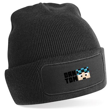 Picture of Dantdm Dan The Diamond Minecart Blue Hair Player Skin Face And Black Text Beanie Hat