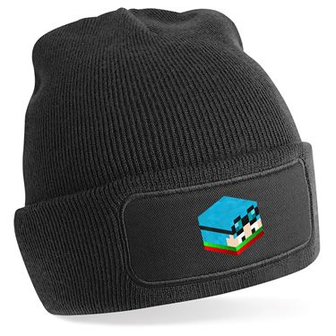 Picture of Dantdm Dan The Diamond Minecart Christmas Player Skin 3D Head Right Pose Beanie Hat