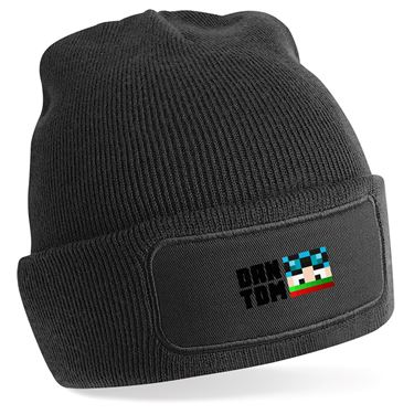 Picture of Dantdm Dan The Diamond Minecart Christmas Player Skin Face And Black Text Beanie Hat