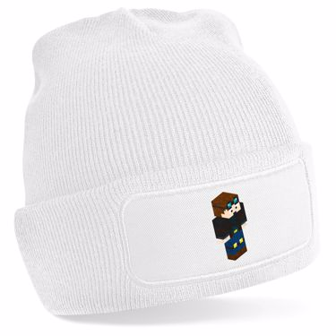 Picture of Dantdm Dan The Diamond Minecart Player Skin 3D Standing Right Pose Beanie Hat