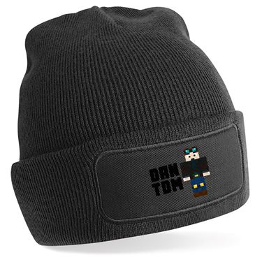 Picture of Dantdm Dan The Diamond Minecart Player Skin Standing Pose And Black Text Beanie Hat