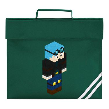 Picture of Dantdm Dan The Diamond Minecart Blue Hair Player Skin 3D Standing Right Pose Book Bag