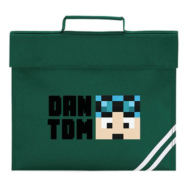 Picture of Dantdm Dan The Diamond Minecart Blue Hair Player Skin Face And Black Text Book Bag