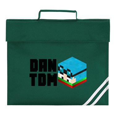 Picture of Dantdm Dan The Diamond Minecart Christmas Player Skin 3D Head Left Pose And Black Text Book Bag