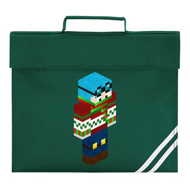 Picture of Dantdm Dan The Diamond Minecart Christmas Player Skin 3D Standing Right Pose Book Bag