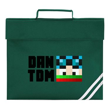 Picture of Dantdm Dan The Diamond Minecart Christmas Player Skin Face And Black Text Book Bag