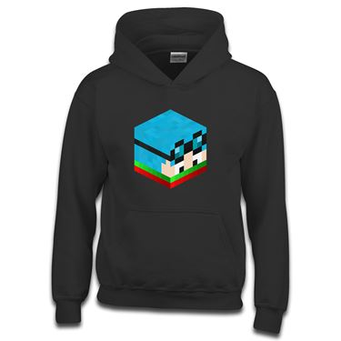 Picture of Dantdm Dan The Diamond Minecart Christmas Player Skin 3D Head Right Pose Boys Hoodie