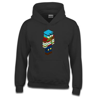 Picture of Dantdm Dan The Diamond Minecart Christmas Player Skin 3D Standing Right Pose Boys Hoodie