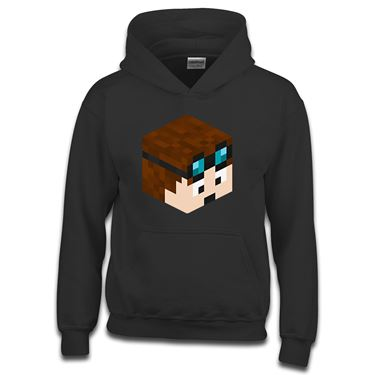 Picture of Dantdm Dan The Diamond Minecart Player Skin 3D Head Right Pose Boys Hoodie