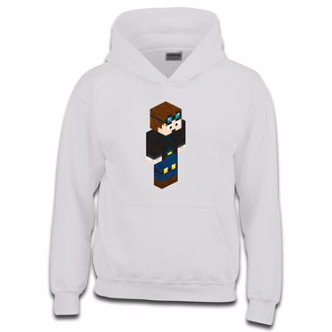 Picture of Dantdm Dan The Diamond Minecart Player Skin 3D Standing Right Pose Boys Hoodie