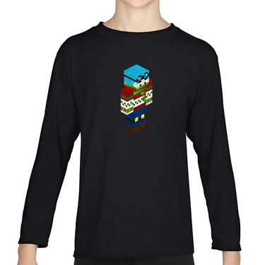 Picture of Dantdm Dan The Diamond Minecart Christmas Player Skin 3D Standing Right Pose Boys Long Sleeve Tshirt