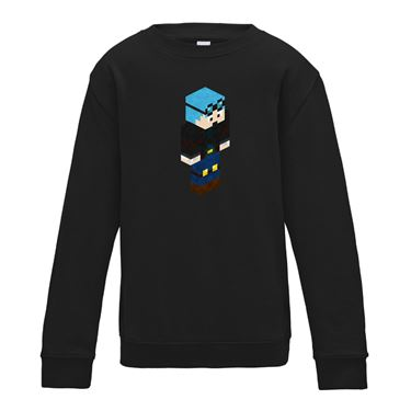 Picture of Dantdm Dan The Diamond Minecart Blue Hair Player Skin 3D Standing Right Pose Boys Sweatshirt