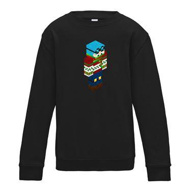 Picture of Dantdm Dan The Diamond Minecart Christmas Player Skin 3D Standing Right Pose Boys Sweatshirt