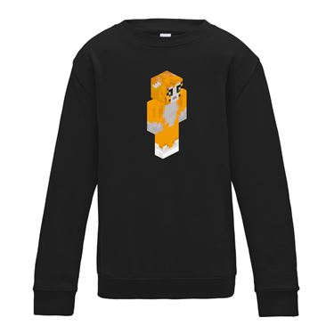 Picture of Stampy Cat Player Skin 3D Standing Right Pose Boys Sweatshirt