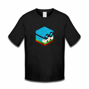 Picture of Dantdm Dan The Diamond Minecart Christmas Player Skin 3D Head Right Pose Boys Tshirt