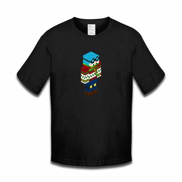 Picture of Dantdm Dan The Diamond Minecart Christmas Player Skin 3D Standing Right Pose Boys Tshirt