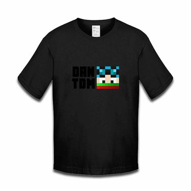 Picture of Dantdm Dan The Diamond Minecart Christmas Player Skin Face And Black Text Boys Tshirt