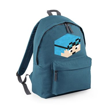 Picture of Dantdm Dan The Diamond Minecart Blue Hair Player Skin 3D Head Right Pose Fashion Backpack