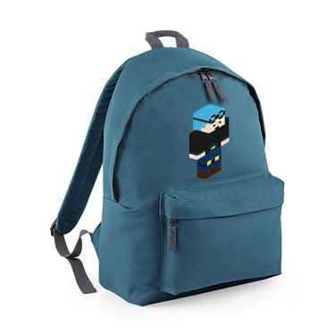 Picture of Dantdm Dan The Diamond Minecart Blue Hair Player Skin 3D Standing Right Pose Fashion Backpack