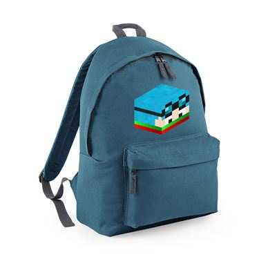 Picture of Dantdm Dan The Diamond Minecart Christmas Player Skin 3D Head Right Pose Fashion Backpack
