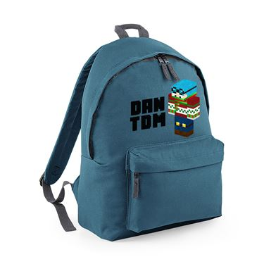 Picture of Dantdm Dan The Diamond Minecart Christmas Player Skin 3D Standing Left Pose And Black Text Fashion Backpack