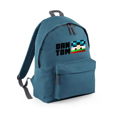 Picture of Dantdm Dan The Diamond Minecart Christmas Player Skin Face And Black Text Fashion Backpack