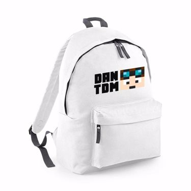 Picture of Dantdm Dan The Diamond Minecart Player Skin Face And Black Text Fashion Backpack