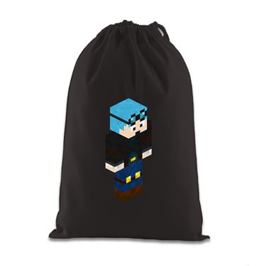 Picture of Dantdm Dan The Diamond Minecart Blue Hair Player Skin 3D Standing Right Pose Gift Bag