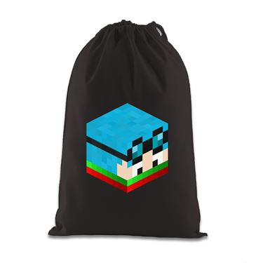 Picture of Dantdm Dan The Diamond Minecart Christmas Player Skin 3D Head Right Pose Gift Bag