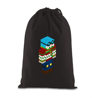 Picture of Dantdm Dan The Diamond Minecart Christmas Player Skin 3D Standing Right Pose Gift Bag