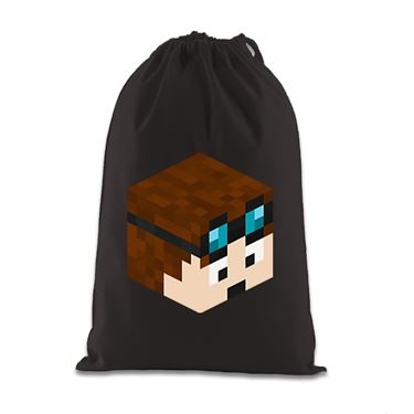 Picture of Dantdm Dan The Diamond Minecart Player Skin 3D Head Right Pose Gift Bag