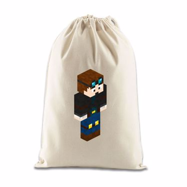 Picture of Dantdm Dan The Diamond Minecart Player Skin 3D Standing Right Pose Gift Bag