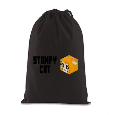 Picture of Stampy Cat Player Skin 3D Head Left Pose And Black Text Gift Bag