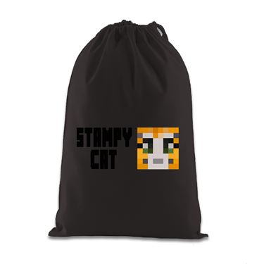 Picture of Stampy Cat Player Skin Face And Black Text Gift Bag