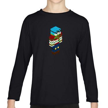 Picture of Dantdm Dan The Diamond Minecart Christmas Player Skin 3D Standing Right Pose Girls Long Sleeve Tshirt