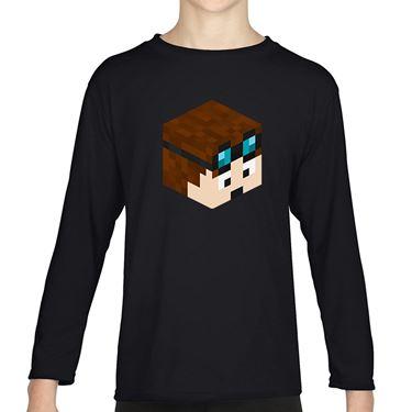 Picture of Dantdm Dan The Diamond Minecart Player Skin 3D Head Right Pose Girls Long Sleeve Tshirt