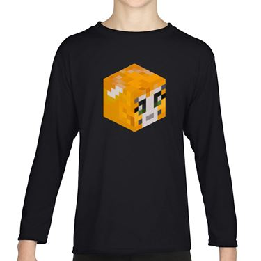 Picture of Stampy Cat Player Skin 3D Head Right Pose Girls Long Sleeve Tshirt