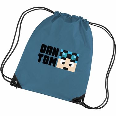 Picture of Dantdm Dan The Diamond Minecart Blue Hair Player Skin Face And Black Text Gym Bag