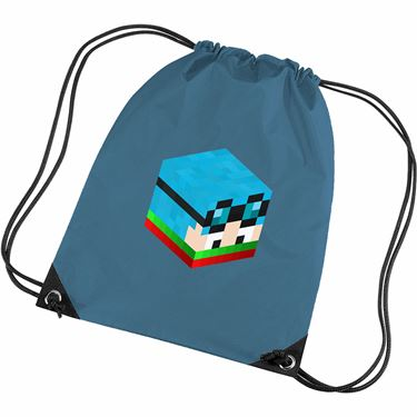 Picture of Dantdm Dan The Diamond Minecart Christmas Player Skin 3D Head Right Pose Gym Bag