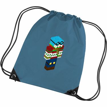 Picture of Dantdm Dan The Diamond Minecart Christmas Player Skin 3D Standing Right Pose Gym Bag