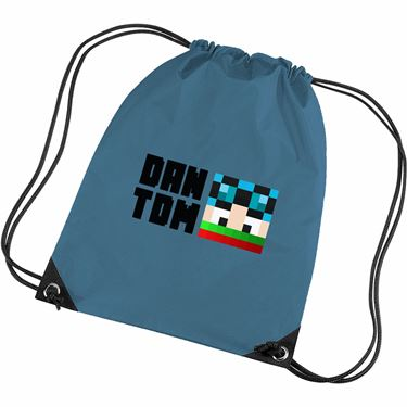 Picture of Dantdm Dan The Diamond Minecart Christmas Player Skin Face And Black Text Gym Bag