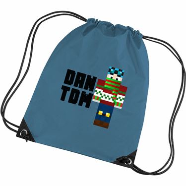 Picture of Dantdm Dan The Diamond Minecart Christmas Player Skin Standing Pose And Black Text Gym Bag