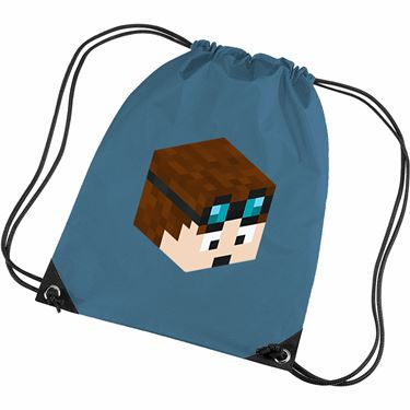 Picture of Dantdm Dan The Diamond Minecart Player Skin 3D Head Right Pose Gym Bag