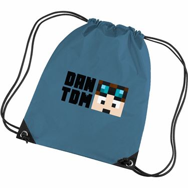 Picture of Dantdm Dan The Diamond Minecart Player Skin Face And Black Text Gym Bag