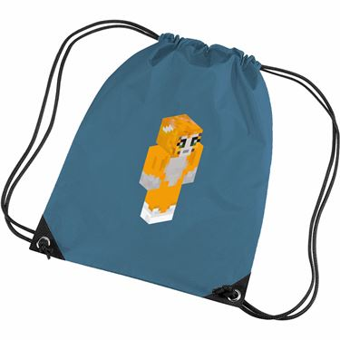 Picture of Stampy Cat Player Skin 3D Standing Right Pose Gym Bag