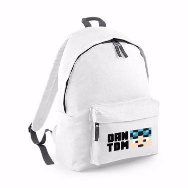 Picture of Dantdm Dan The Diamond Minecart Blue Hair Player Skin Face And Black Text Junior Backpack