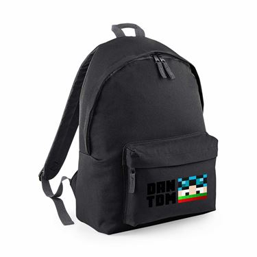 Picture of Dantdm Dan The Diamond Minecart Christmas Player Skin Face And Black Text Junior Backpack